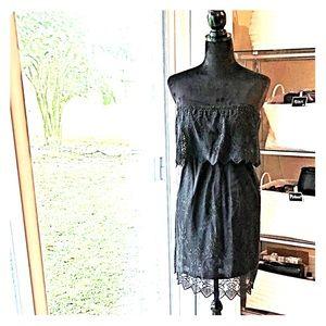 Express black Strapless Summer Dress XSP